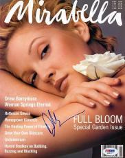 Drew Barrymore Signed Mirabella Magazine Cover PSA/DNA #J00177