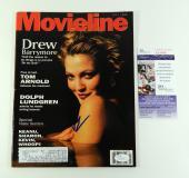Drew Barrymore Signed Movieline Magazine July 1995 1995 JSA Auto