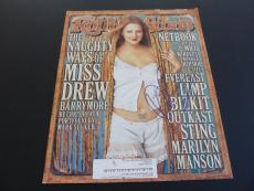 Drew Barrymore Signed Rolling Stone Magazine Cover Photo PSA & Beckett Guarantee