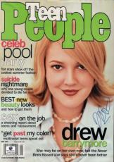 Drew Barrymore Signed Teen People Cover Autograph ET Charlie's Angels GV607363