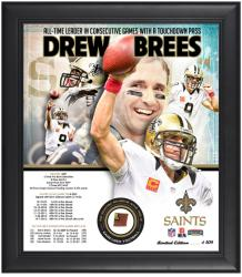 New Orleans Saints Drew Brees Touchdown Pass Record Photo Collage - Mounted Memories