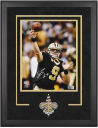 BREES, DREW FRAMED AUTO (VS PATRIOTS)(DELUXE/LOGOS) 16x20