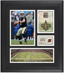 Drew Brees New Orleans Saints Framed 15'' x 17'' Collage with Game-Used Football - Mounted Memories