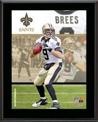 """Drew Brees New Orleans Saints Sublimated 10.5"""" x 13"""" Composite Plaque"""