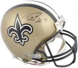 Drew Brees Signed Helmet - Pro Line Riddell Authentic Mounted Memories