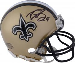 Drew Brees New Orleans Saints Autographed Riddell Mini Helmet