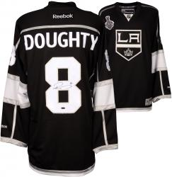 Drew Doughty Los Angeles Kings 2014 Stanley Cup Champions Autographed Black Reebok Jersey with 2014 Stanley Cup Patch