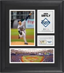 Drew Smyly Tampa Bay Rays Framed 15'' x 17'' Collage with Piece of Game-Used Ball