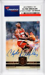 Clyde Drexler Houston Rockets Autographed 2010 Panini #107 Card