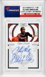 Clyde Drexler Portland Trail Blazers Autographed 2010 Panini #155 Card