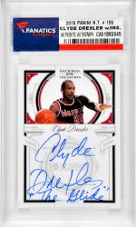Clyde Drexler Portland Trail Blazers Autographed 2010 Panini #155 Card with The Glide Inscription