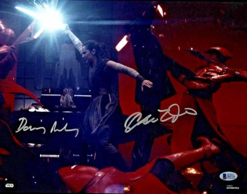Driver & Ridley Signed Star Wars Jedi 11x14 Photo - Kylo Ren Rey Beckett BAS 1