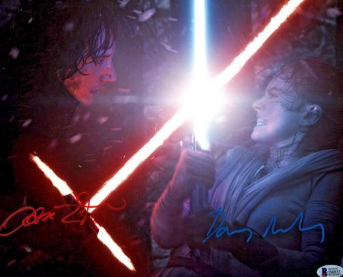 Driver & Ridley Signed Star Wars Jedi 11x14 Photo - Kylo Ren Rey Beckett BAS 3