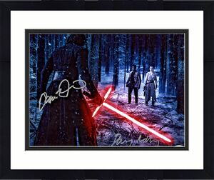 Driver & Ridley Signed Star Wars Jedi 11x14 Photo - Kylo Ren Rey PSA/DNA