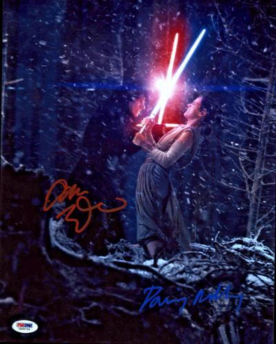 Driver & Ridley Signed Star Wars Jedi 11x14 Photo - Kylo Ren Rey PSA/DNA 2
