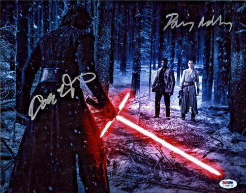 Driver & Ridley Signed Star Wars Jedi 11x14 Photo - Kylo Ren Rey PSA/DNA 3