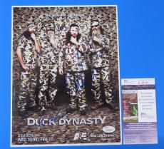DUCK DYNASTY CAST SIGNED 8.5x11 PHOTO ~ 4 AUTOGRAPHS ~ JSA CERT #K21064