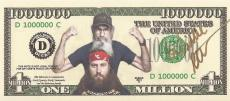 Duck Dynasty Ceo Willie Robertson Signed Autographed One Million $$ Bill W/coa
