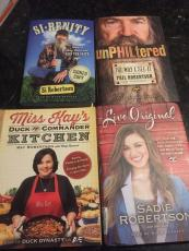 Duck Dynasty Lot Of 4 Signed Autograph Books Si, Phil, Sadie & Kaye