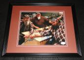 Duck Dynasty Willie & Si Robertson Dual Signed Framed 8x10 Photo JSA