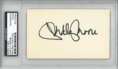 Dudley Moore Signed Authentic Autographed 3x5 Index Card SlabbedPSA/DNA#83727683