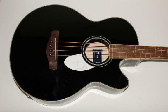 Duff Mckagan Signed Autograph Ibaznez Fs Acoustic Bass Guitar - Guns N' Roses