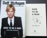 Duff McKagan Signed Book How To Be A Man Guns N' Roses 1st Pr Beckett BAS Authen