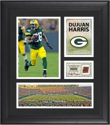 Dujuan Harris Green Bay Packers Framed 15'' x 17'' Collage with Game-Used Football