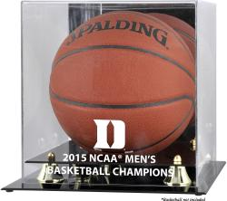 Duke Blue Devils 2015 NCAA Men's Basketball National Champions Golden Classic Logo Basketball Display Case with Mirror Back