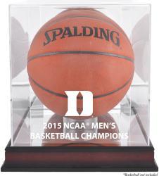 Duke Blue Devils 2015 NCAA Men's Basketball National Champions Logo Mahogany Antique Finish Basketball Display Case with Mirror Back