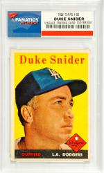 Duke Snider Los Angeles Dodgers 1958 Topps #88 Card - Mounted Memories