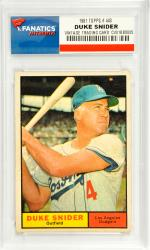 Duke Snider Los Angeles Dodgers 1961 Topps #443 Card - Mounted Memories