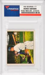 Duke Snider Brooklyn Dodgers 1950 Bowman #77 Card