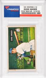 Duke Snider Brooklyn Dodgers 1951 Bowman #32 Card