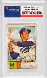Duke Snider Brooklyn Dodgers 1952 Bowman #116 Card 1