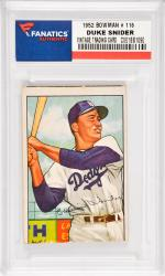 Duke Snider Brooklyn Dodgers 1952 Bowman #116 Card 2