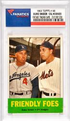 Duke Snider / Gil Hodges Los Angeles Dodgers / New York Mets 1963 Topps #68 Card