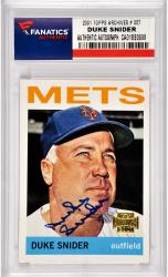 Duke Snider Los Angeles Dodgers Autographed 2001 Topps Archives #337 Card