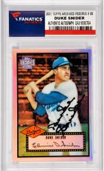 Duke Snider Los Angeles Dodgers Autographed 2001 Topps Archives Reserve #99 Card