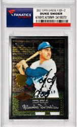 Duke Snider Los Angeles Dodgers Autographed 2002 Topps Chrome #52R-2 Card