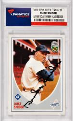 Duke Snider Los Angeles Dodgers Autographed 2002 Topps Super Teams #20 Card