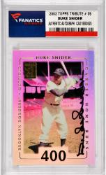 Duke Snider Los Angeles Dodgers Autographed 2002 Topps Tribute #35 Card