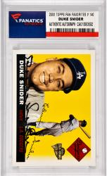 Duke Snider Los Angeles Dodgers Autographed 2003 Topps All Time Fan Favorites #140 Card