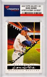 Duke Snider Los Angeles Dodgers Autographed 2003 Topps Gallery #29 Card