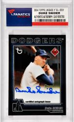 Duke Snider Los Angeles Dodgers Autographed 2004 Topps Lineage #TA-DSW Card