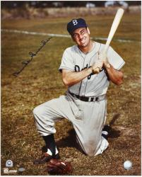 "Duke Snider Brooklyn Dodgers Autograph 16"" x 20"" On Knee Posing Photograph"