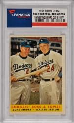 Duke Snider / Walter Alston Brooklyn Dodgers 1958 Topps #314 Card