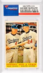 Duke Snider / Walter Alston Brooklyn Dodgers (1958 Topps #314 Card