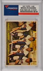 Duke Snider/Roy Campanella/Gil Hodges/Carl Furillo Brooklyn Dodgers 1957 Topps #400 Card 1