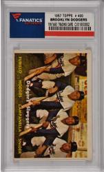 Duke Snider/Roy Campanella/Gil Hodges/Carl Furillo Brooklyn Dodgers 1957 Topps #400 Card 2